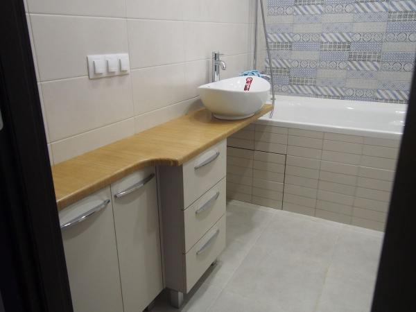 2019.08.21 Тумба в ванную со столешницей из фанеры